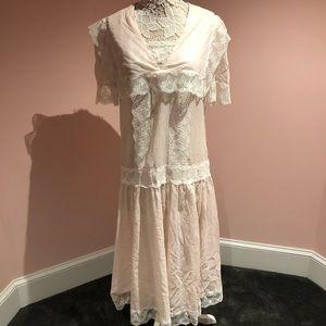 Vintage Jessica McClintock prairie boho dress